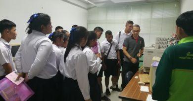 นักเรียนโรงเรียนบ้านทับวัง จ.ชุมพร เยี่ยมชมห้องปฏิบัติการเคมี